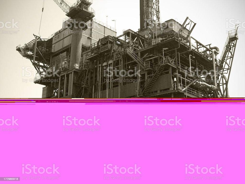 Drilling Platform royalty-free stock photo