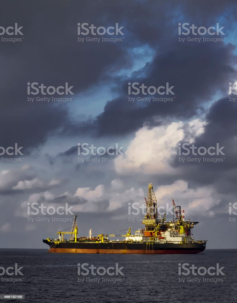 Drilling rig and platform stock photo