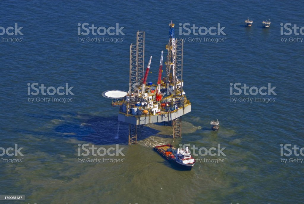 Drilling Rig Gulf of Mexico royalty-free stock photo