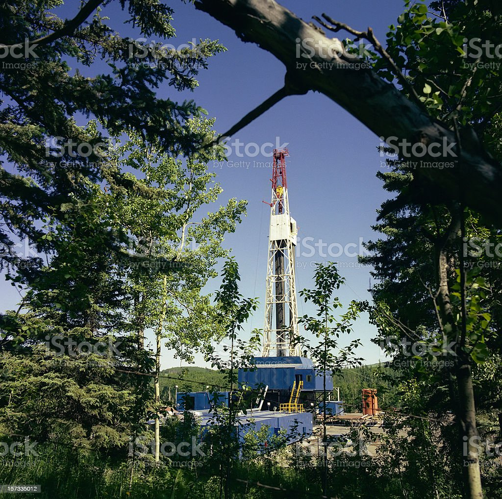 Drilling Rig in Bush Country royalty-free stock photo