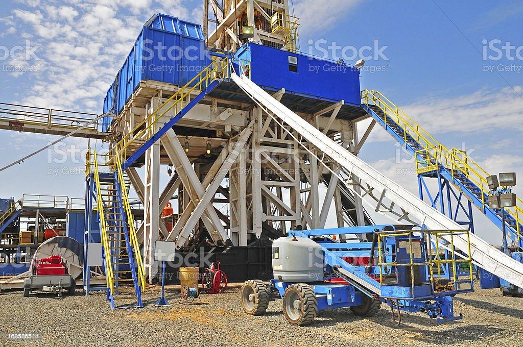 Drilling Rig & Manlift stock photo