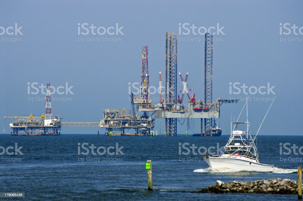Drilling Rig Mobile Bay royalty-free stock photo