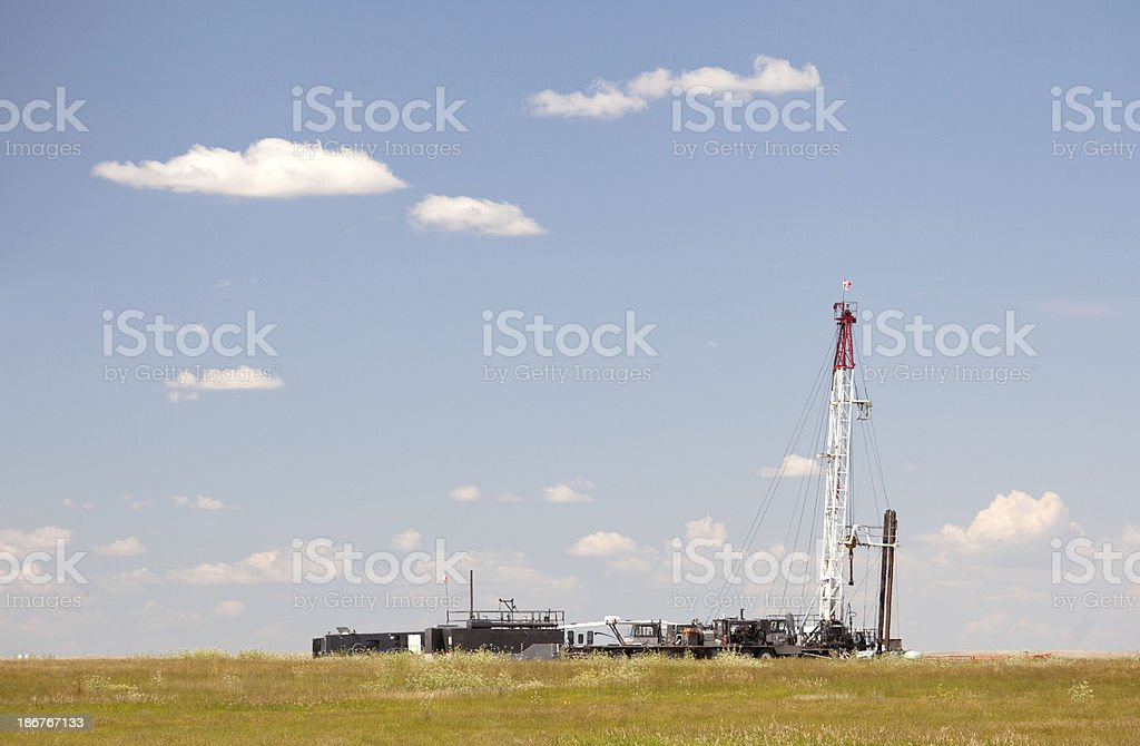 Drilling Rig on the Great Plains royalty-free stock photo