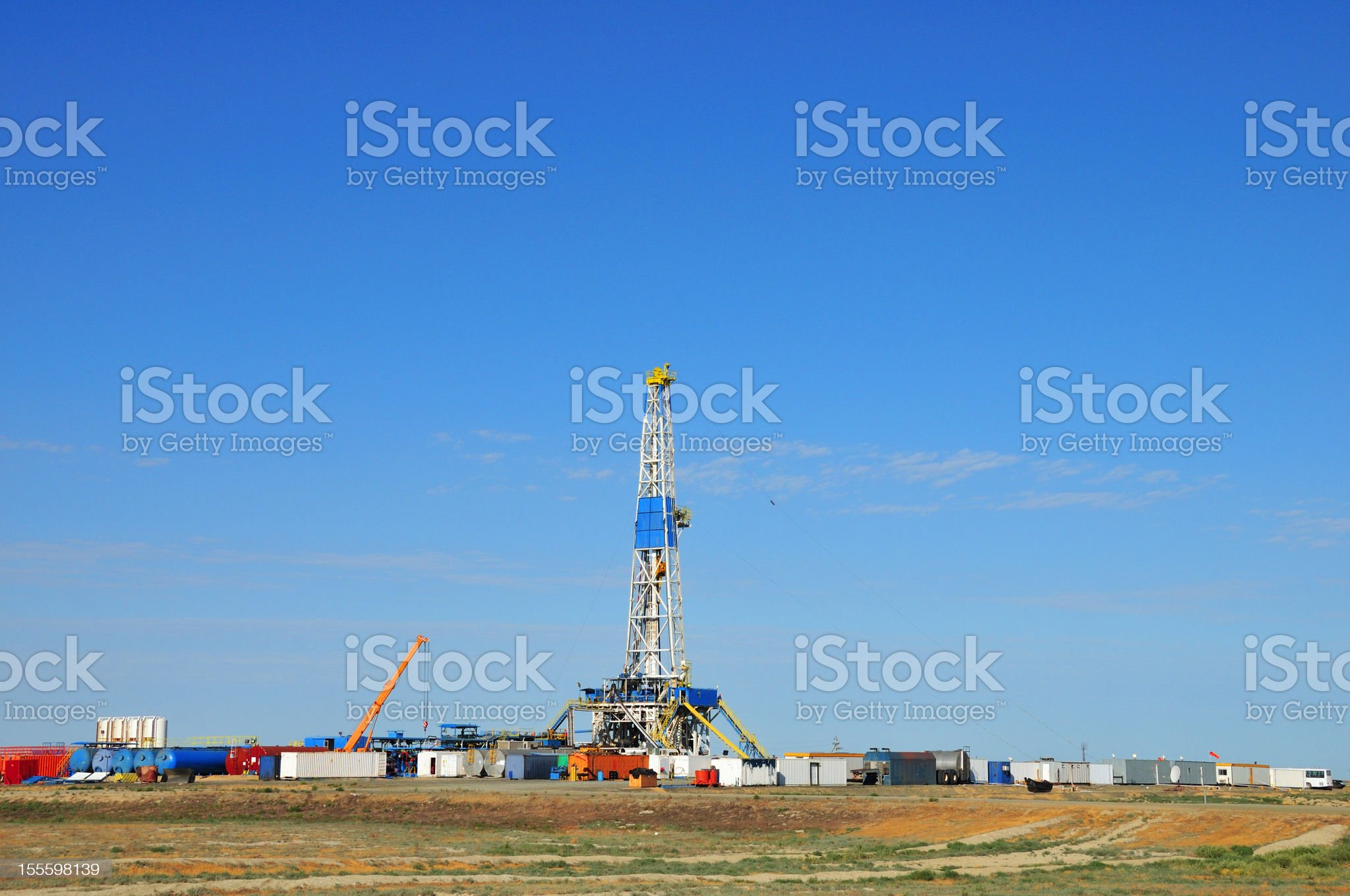 Drilling Rig royalty-free stock photo