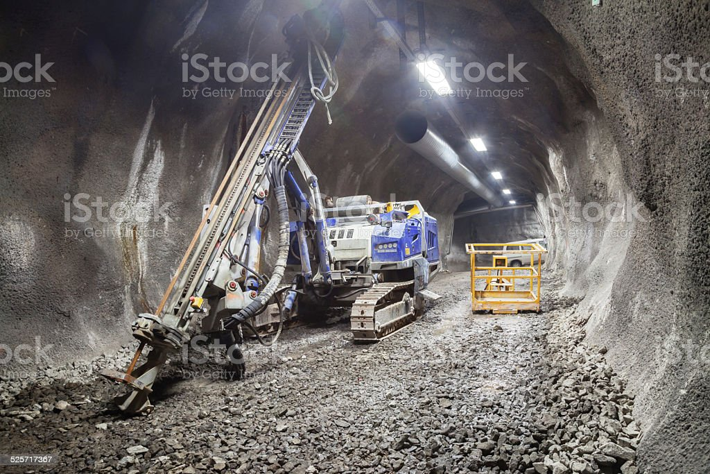 Drilling rig stock photo