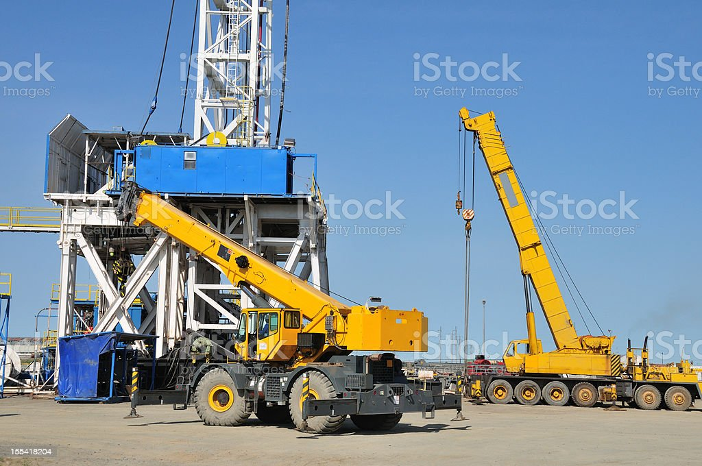 Drilling rig - rigging up royalty-free stock photo