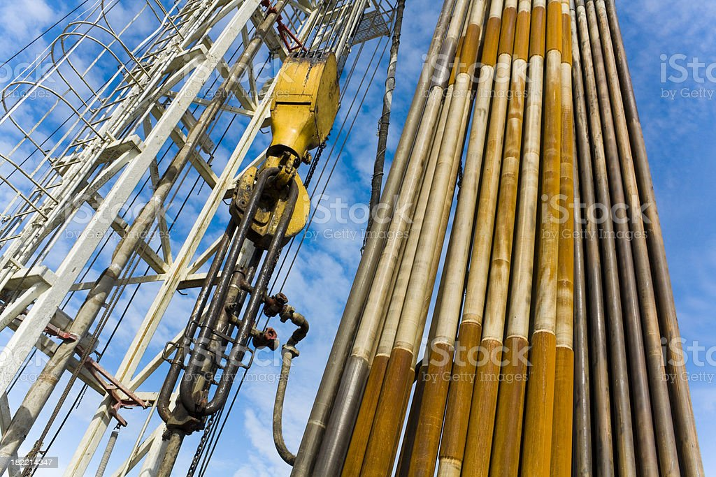 Drilling rig with stands royalty-free stock photo