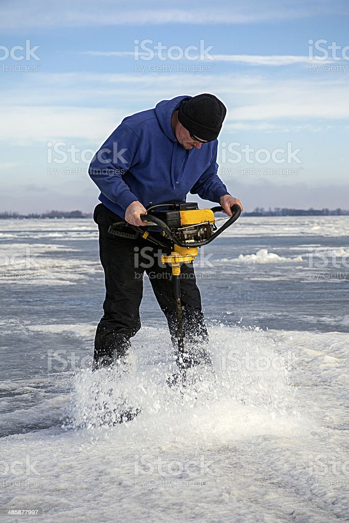 Drilling the Ice royalty-free stock photo