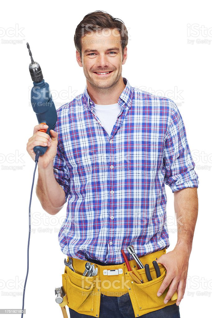 Drilling's my game! royalty-free stock photo