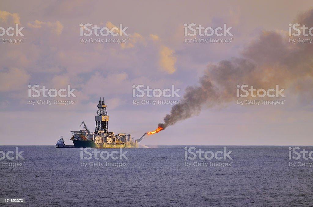 Drillship In Gulf of Guinea royalty-free stock photo
