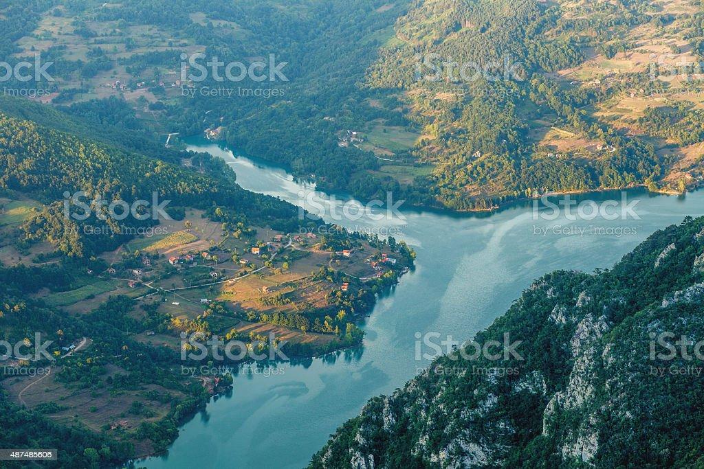 Drina river stock photo