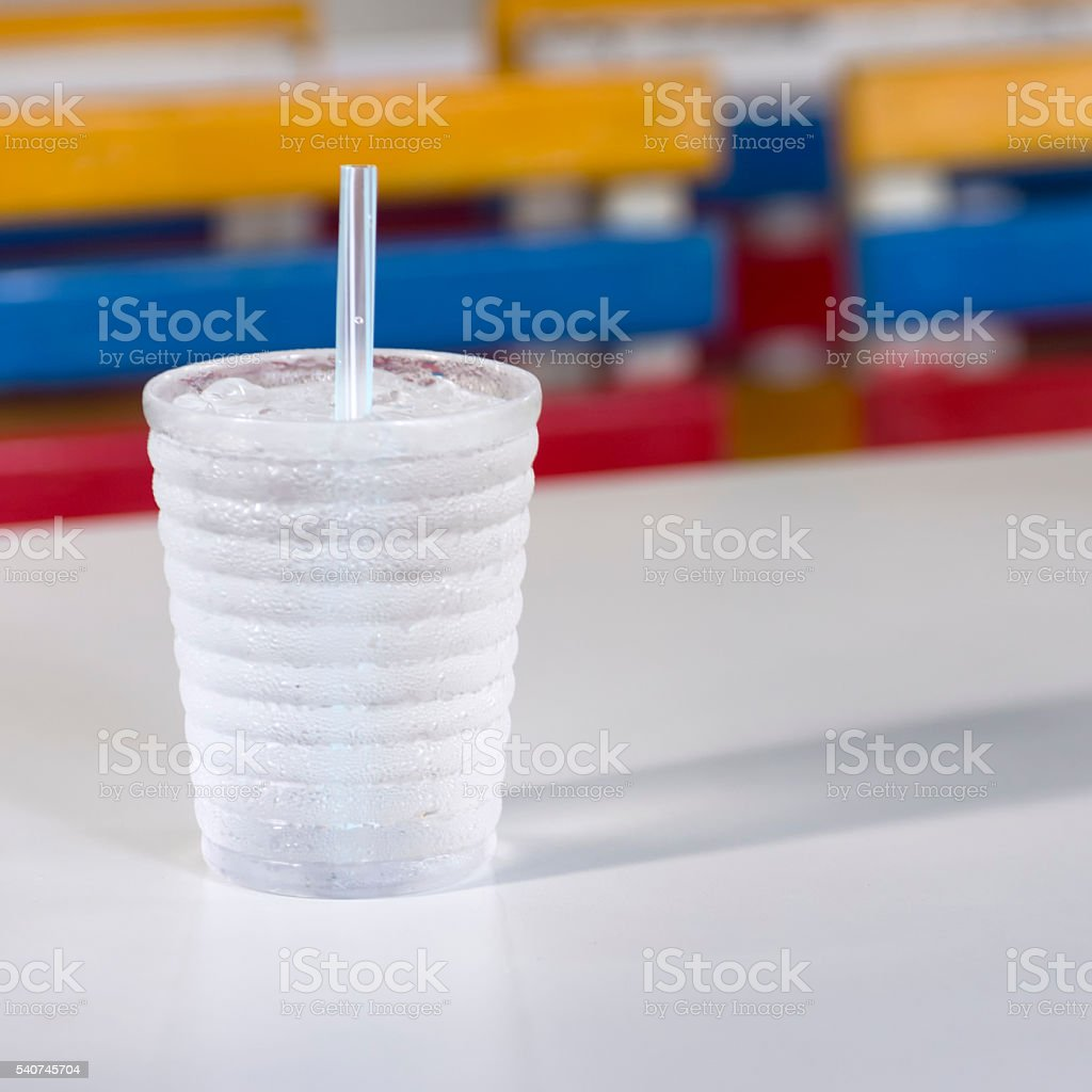 Drink a glass of water stock photo