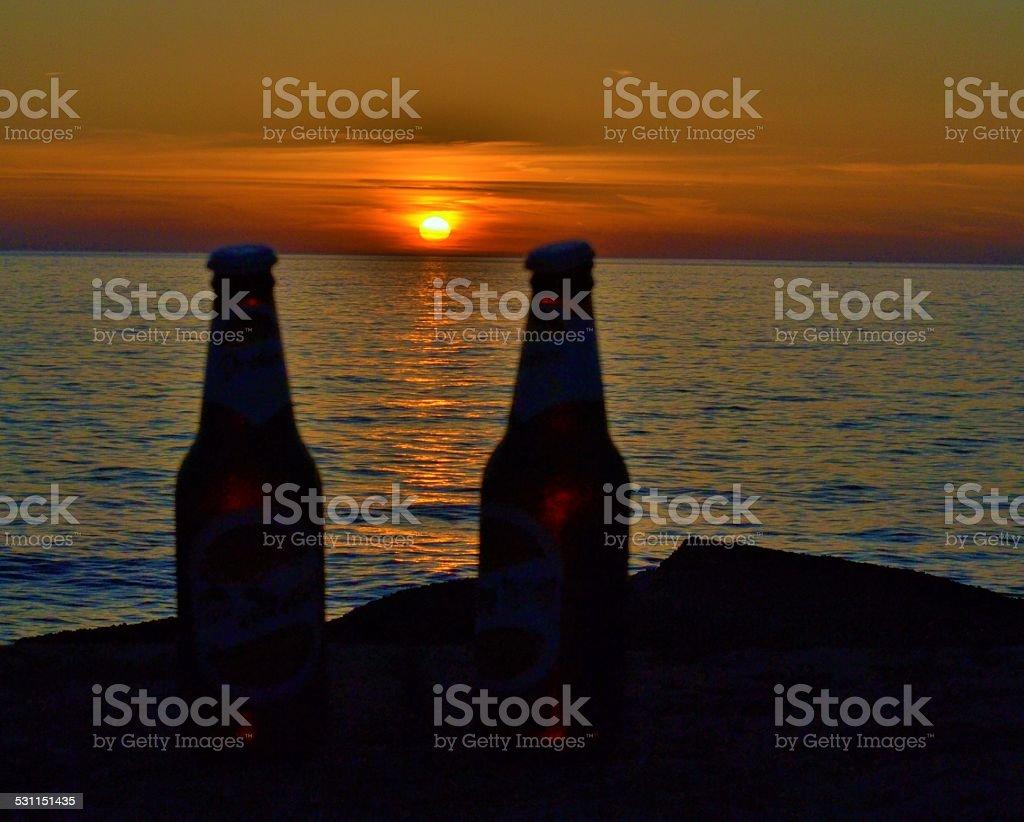 Drink al tramonto stock photo