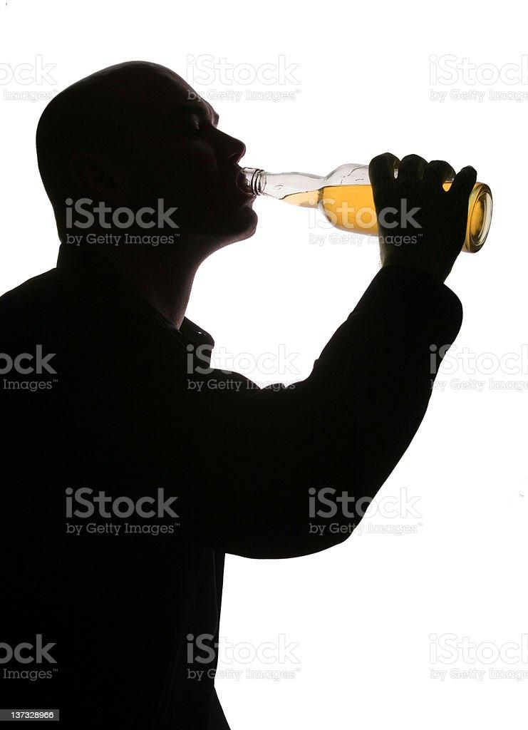 Drink brandy stock photo