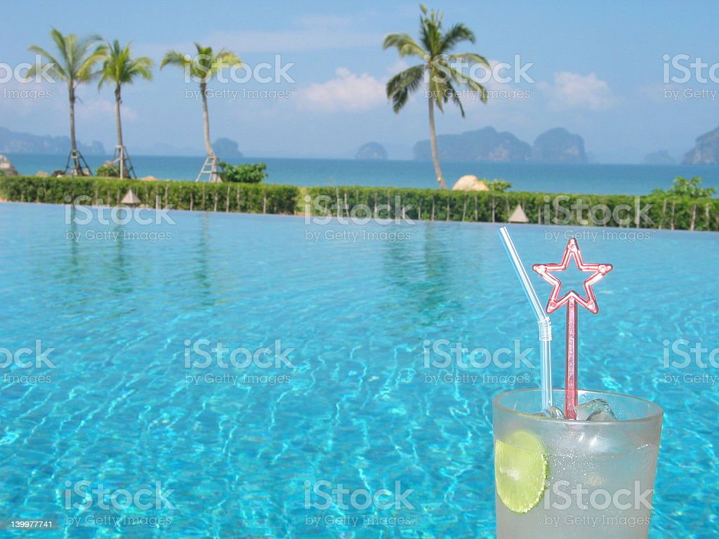 Drink By The Poolside - Tempting ! royalty-free stock photo