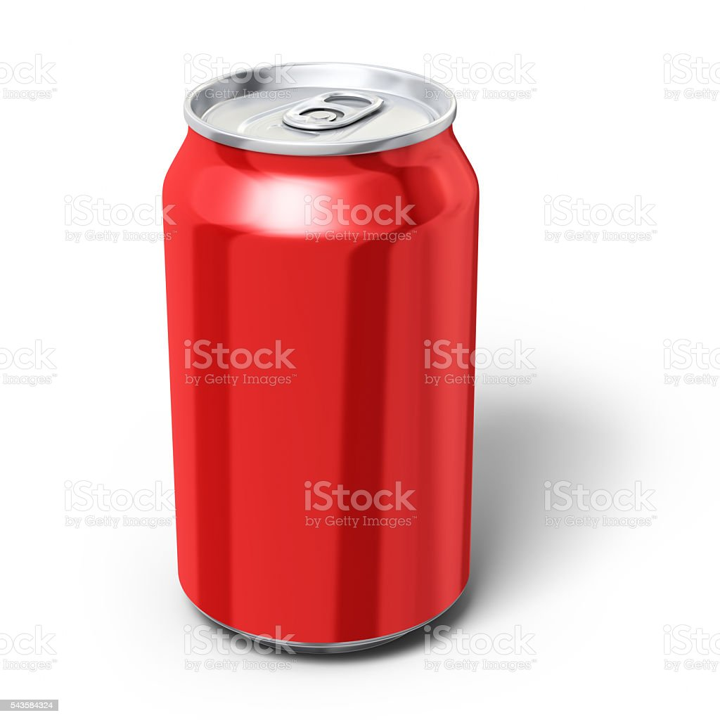 Drink Can Clipping path stock photo