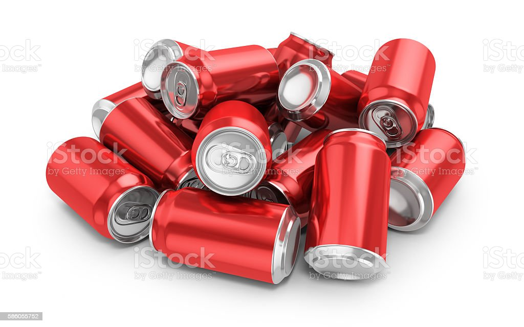 Drink Cans-Clipping path stock photo