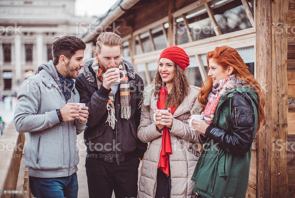 Drink for cold day stock photo