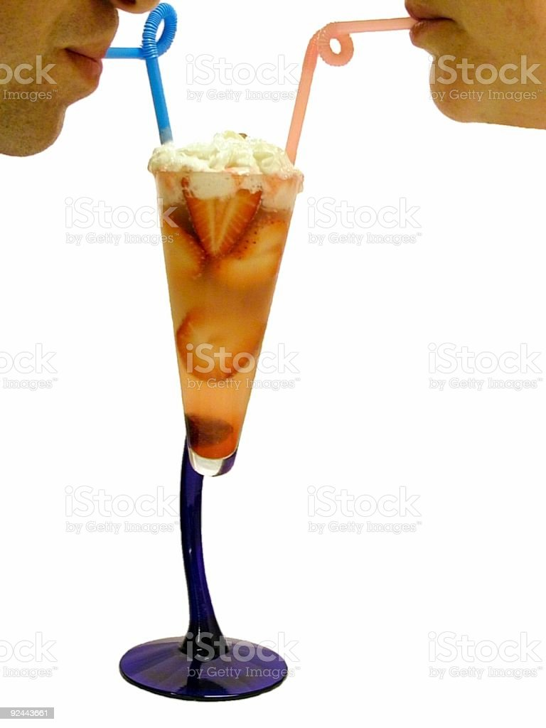 Drink for Two royalty-free stock photo