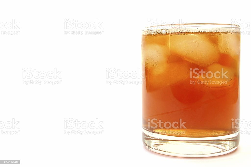 Drink - glass of  icetea royalty-free stock photo