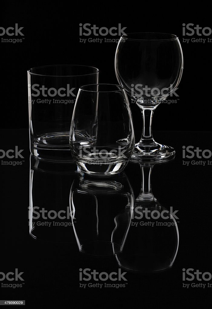 Drink glasses on isolated background royalty-free stock photo