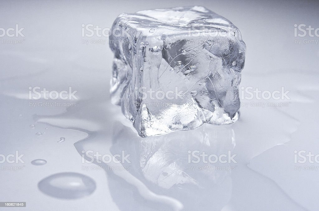 Drink. Ice cube. stock photo