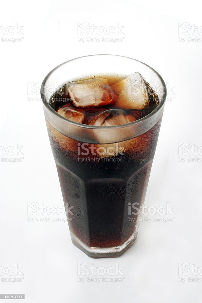 Drink in a glass royalty-free stock photo
