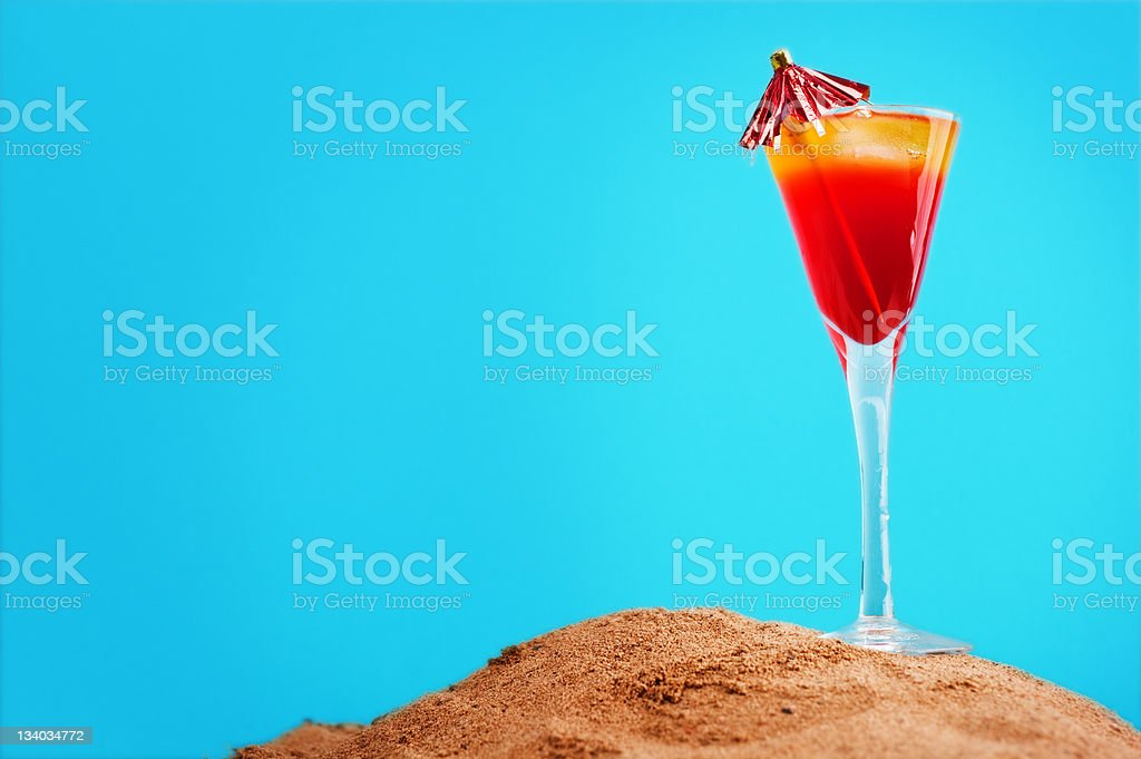 Drink in the sand royalty-free stock photo