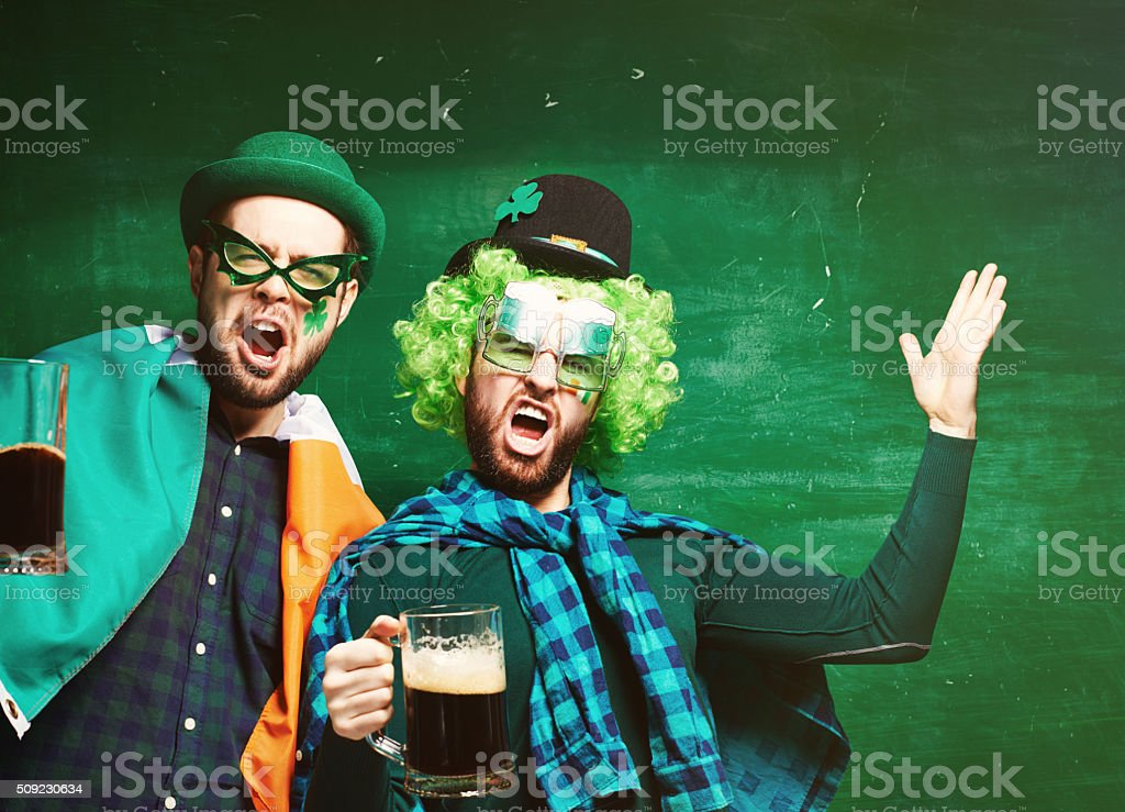 Drink like the Irish! stock photo