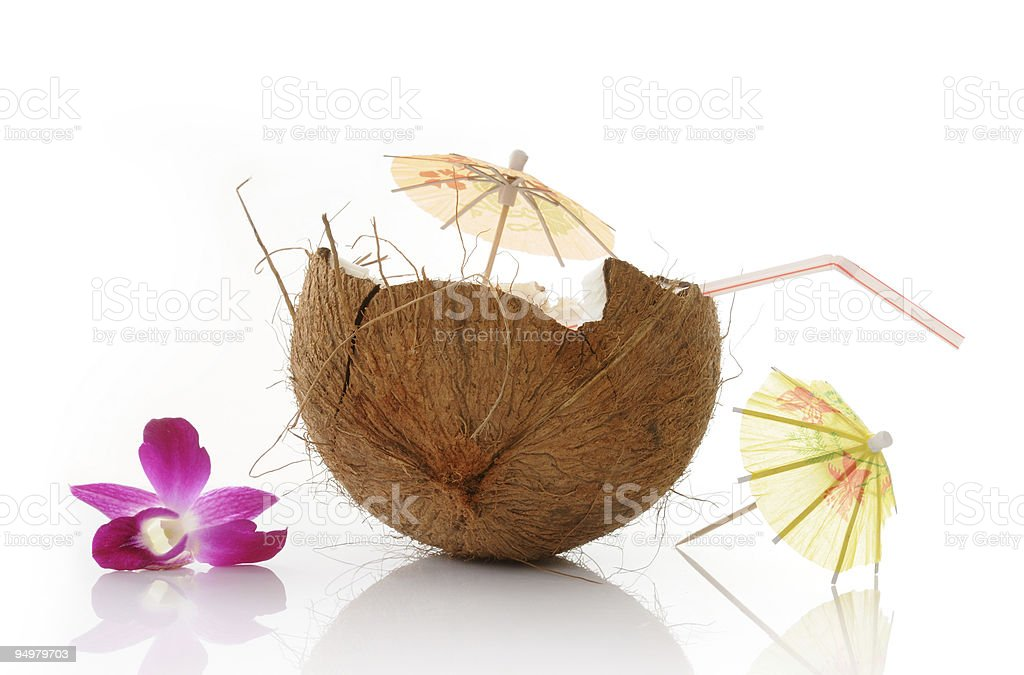 drink of coconut stock photo