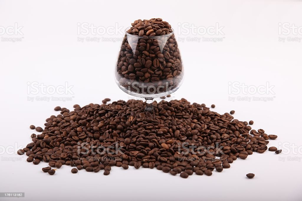 Drink of coffee beans stock photo