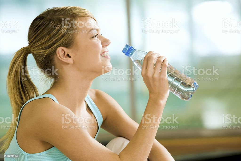 Drink of water stock photo