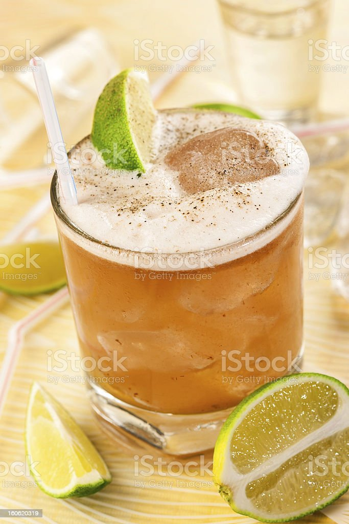 Drink on a bright background royalty-free stock photo
