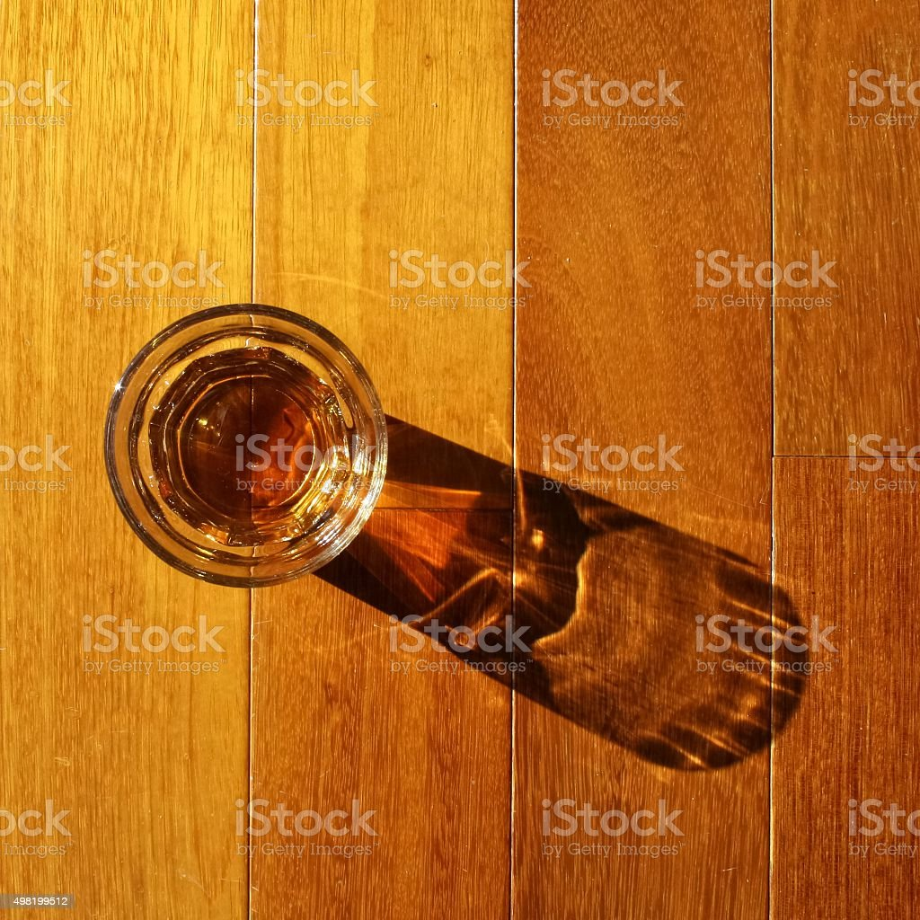 Drink on a wood top stock photo