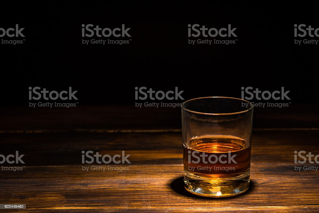 drink on a wooden table stock photo