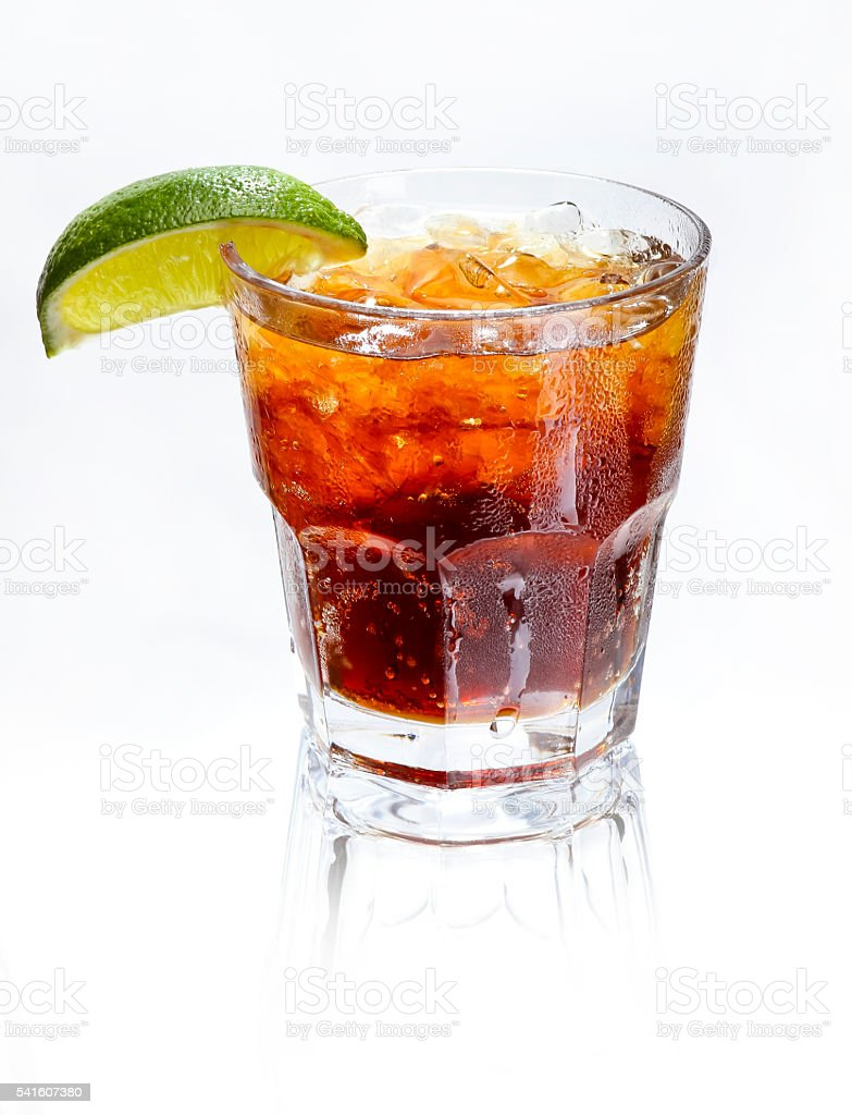 drink rum and Coke stock photo