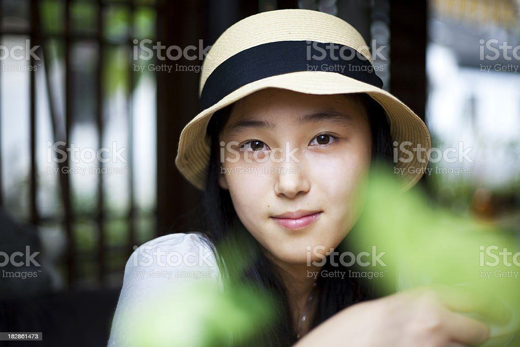 Drink tea in a teahouse royalty-free stock photo