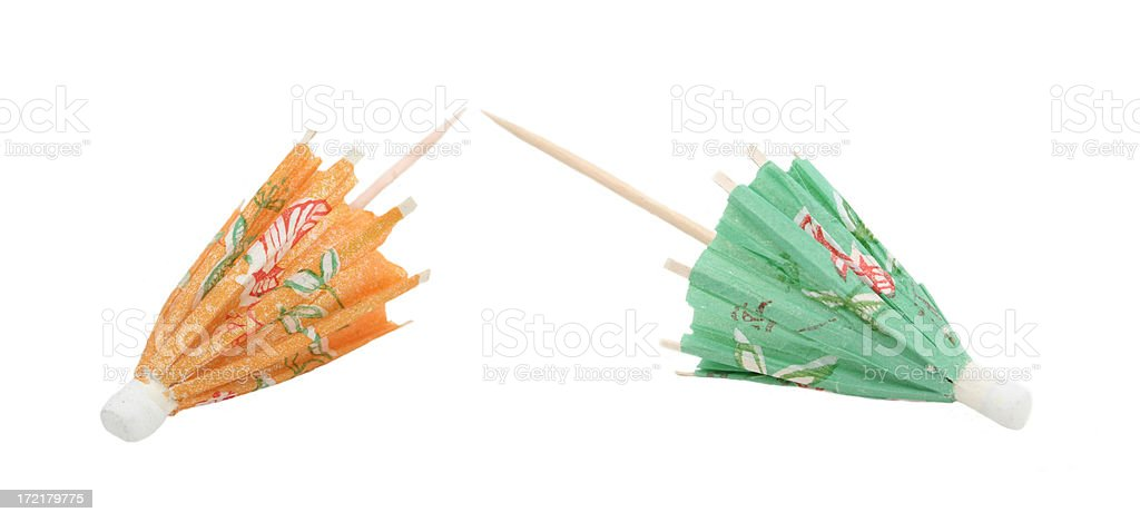 Drink Umbrellas royalty-free stock photo