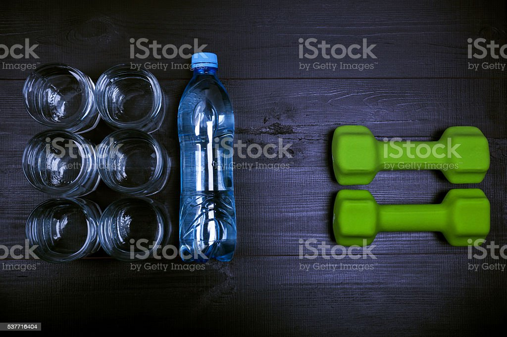 Drink water for healthy lifestyle stock photo