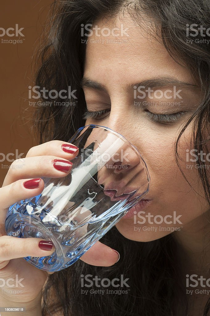 Drink water royalty-free stock photo