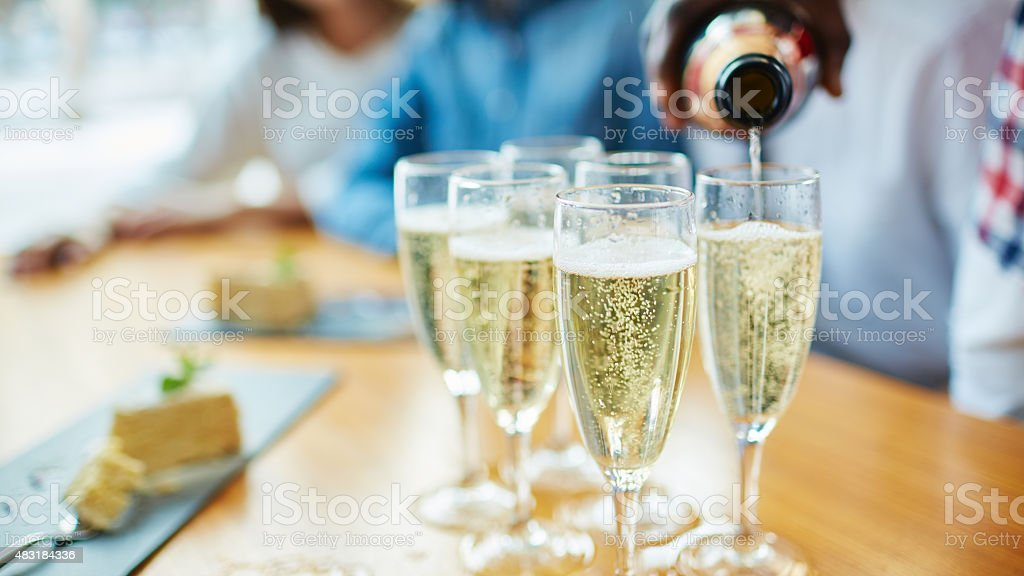 Drink with bubbles stock photo