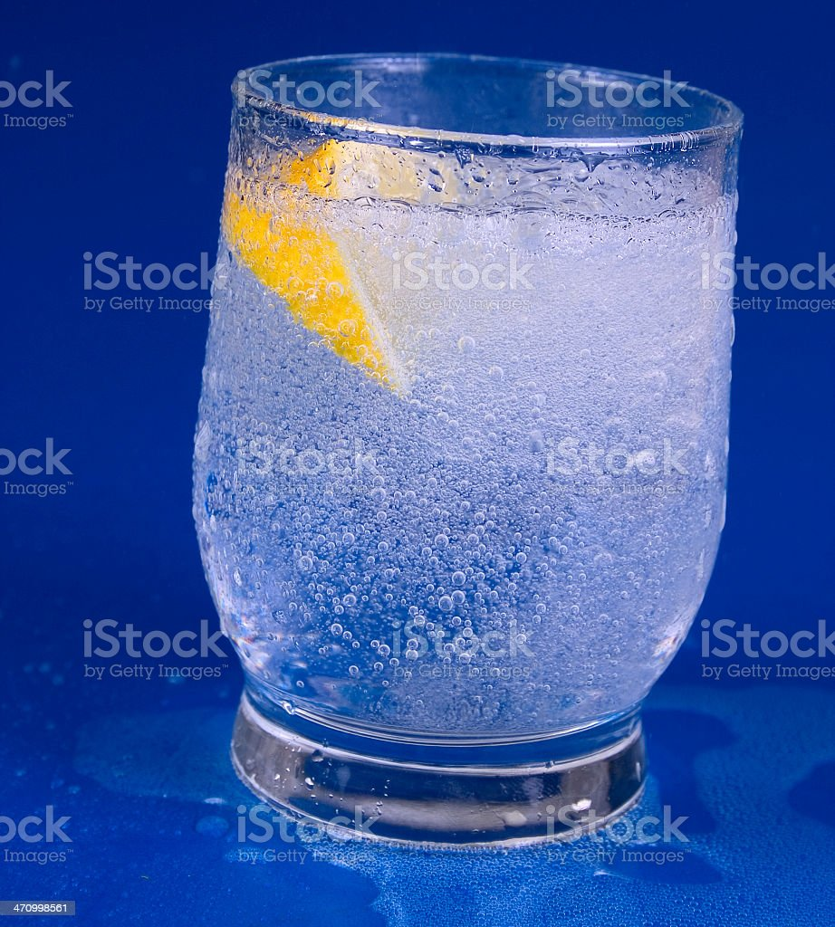 Drink with Citron royalty-free stock photo