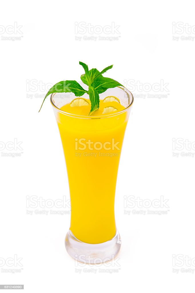 Drink with lemon stock photo