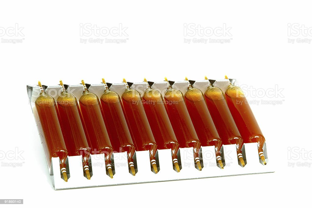 Drinkable medicine blisters royalty-free stock photo