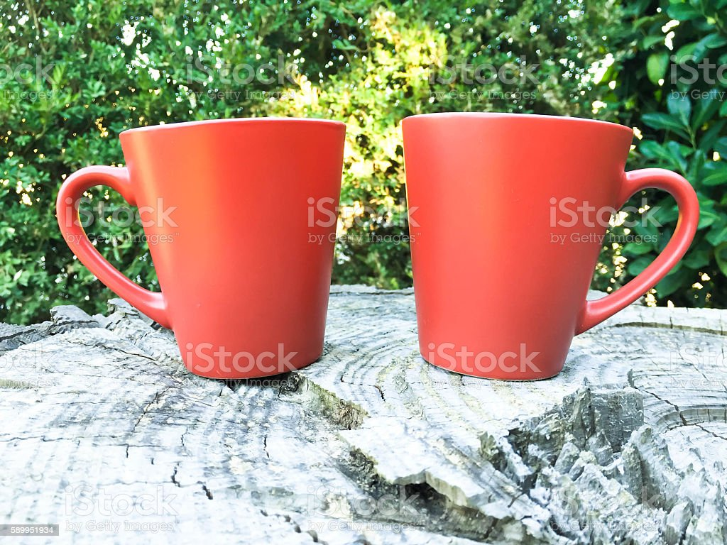 Drinking a coffee outdoor stock photo