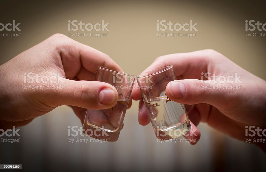 drinking alcohol, isolated stock photo