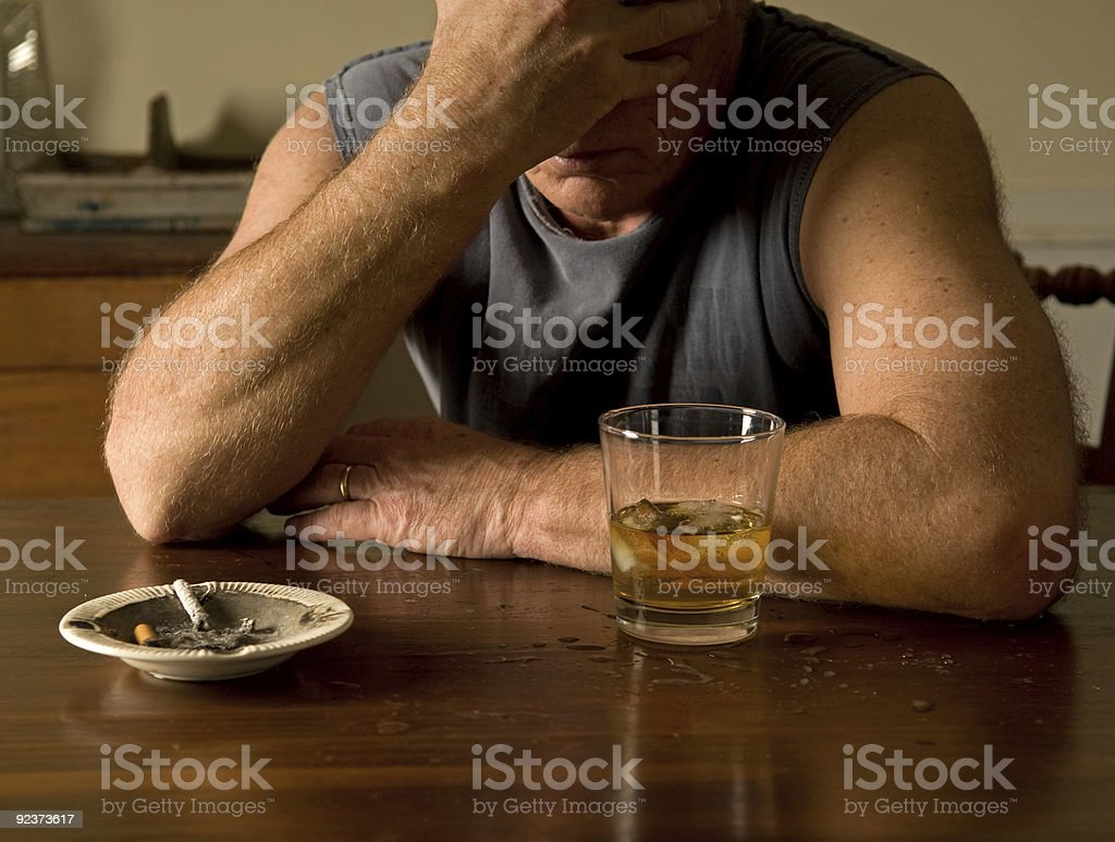 drinking alone stock photo