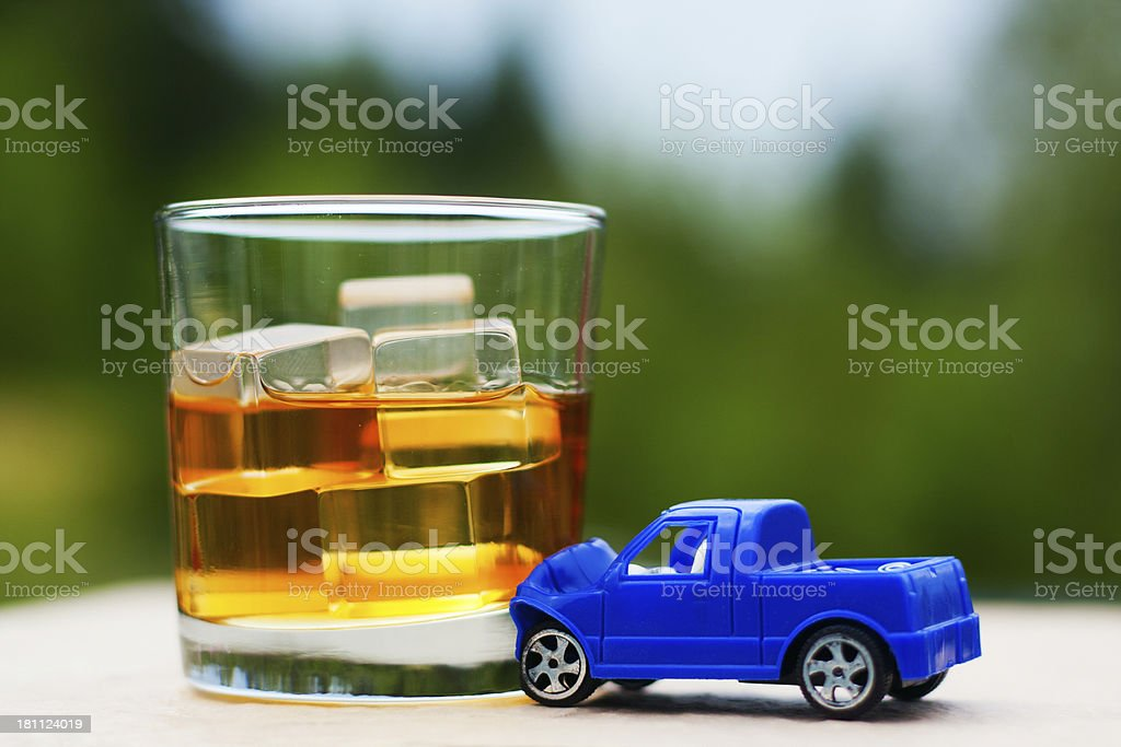 Drinking and Driving - Bourbon Crash royalty-free stock photo