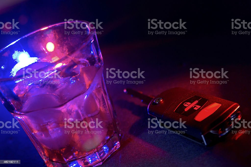 Drinking and Driving Don't mix stock photo