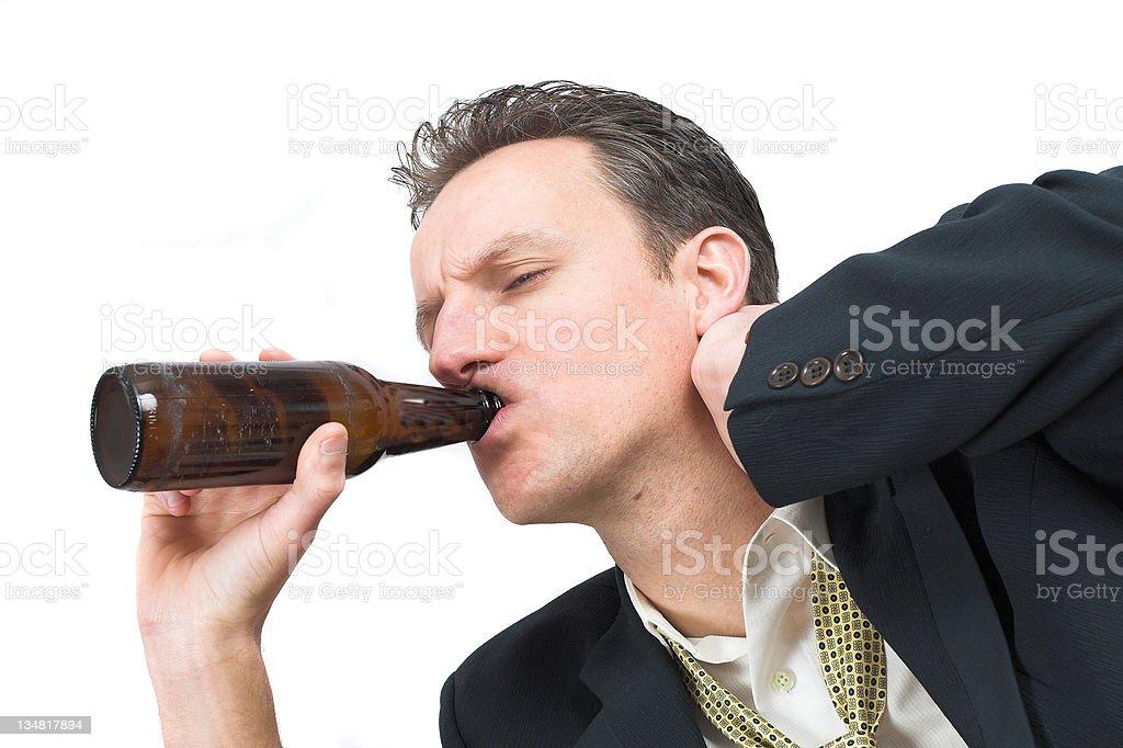 Drinking away the pain royalty-free stock photo